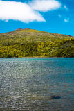 Sunny day at the lake. Lake Rotopounamu is a secluded lake in the Pihanga Scenic Reserve, in the Tongariro National Park in New Zealand's Central North Island Stock Image
