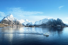Sunny day, Lofoten islands, Norway Stock Photo