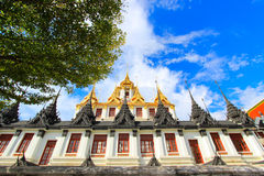 Sunny day at Loha Prasat,Wat Ratchanaddaram Woravihara Royalty Free Stock Photo