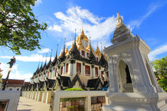 Sunny day at Loha Prasat,Wat Ratchanaddaram Woravihara. Wat Ratchanaddaram Woravihara(Loha Prasat) is a  buddhist temple located at the intersection between Royalty Free Stock Image