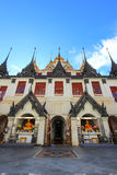 Sunny day at Loha Prasat,Wat Ratchanaddaram Woravihara Royalty Free Stock Photography
