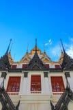 Sunny day at Loha Prasat,Wat Ratchanaddaram Woravihara Royalty Free Stock Images