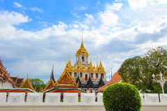 Sunny day at Loha Prasat,Wat Ratchanaddaram Woravihara Stock Photos