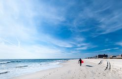 Long Island beach in November. Sunny day on Long Island beach in November royalty free stock photography