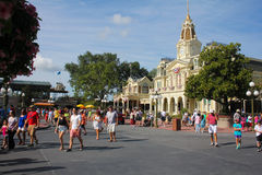 Sunny day on Main Street USA, Magic Kingdom. Stock Image