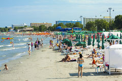 Sunny day in Mamaia, Romania Stock Images