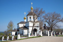 Sunny day in may at the old Orthodox Church of Constantine and his mother Helena. Kazan. SVIYAZHSK, RUSSIA - MAY 02, 2016: Sunny day in may at the old Orthodox Stock Photo