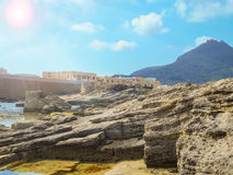 Sunny day on the Mediterranean island. Favignana Royalty Free Stock Photography