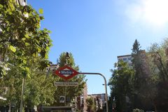 Sunny Day Metro Station imagenes de archivo