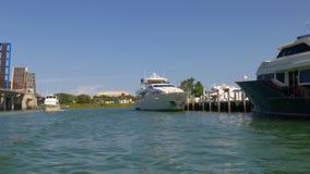 Sunny day miami bayside tourist boat ride 4k florida usa. Usa sunny day miami bayside tourist boat ride 4k florida stock video