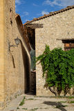 Sunny day in Mirambel, Aragon, Spain. Stock Images