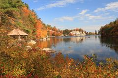 Sunny Day on Mohonk Lake Royalty Free Stock Photography
