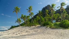 Sunny day in the Monuriki island where Castaway movie was filmed, Fiji royalty free stock photo