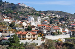 Sunny day in the mountain village of Cyprus Royalty Free Stock Image