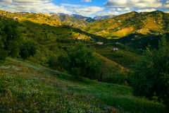 Sunny Day and Mountains in Malaga. Spain Stock Photo