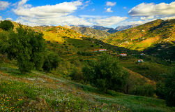 Sunny Day and Mountains in Malaga. Spain Stock Image