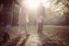 Sunny day for nature. Family. royalty free stock photo