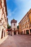 Sunny day near St. Florian's Street gates, Krakow Royalty Free Stock Image