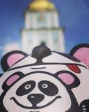 Sunny Day nel centro di Kyiv, Ucraina Fotografie Stock