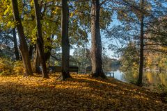 Autumn in Norrköping, Sweden royalty free stock photos