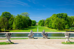 Sunny day in the old historic park Royalty Free Stock Photo
