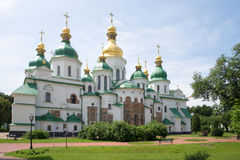 Sunny day at the old St. Sophia Cathedral. Kiev, Ukraine Royalty Free Stock Images