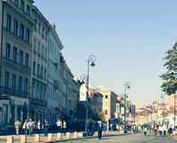 Sunny day in the Old Town of Warsaw royalty free stock images
