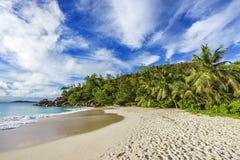 Sunny day on paradise beach anse georgette,praslin seychelles 52 Stock Photography