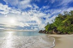 Sunny day on paradise beach anse georgette,praslin seychelles 54 Stock Photo