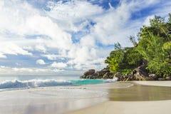 Sunny day on paradise beach anse georgette,praslin seychelles 58 Royalty Free Stock Photos
