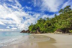 Sunny day on paradise beach anse georgette,praslin seychelles 56 Stock Photography