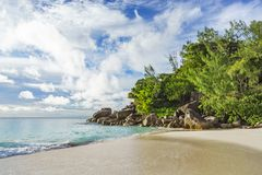 Sunny day on paradise beach anse georgette,praslin seychelles 57 Stock Images