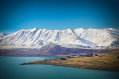 Sunny day at paradise places in South New Zealand / Lake Tekapo Stock Photography