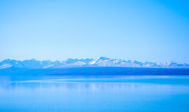 Sunny day at paradise places in South New Zealand / Lake Tekapo / Church of the Good Shepherd stock images