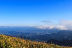 Sunny day at Phu Chi Fa. A mountain area and national forest park in Thailand,a part of Doi Pha Mon,located at the northeastern end of Phi Pan Nam Range,Thoeng Stock Images