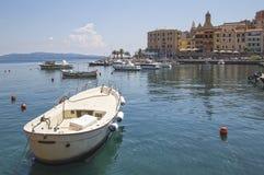 Sunny day in Porto Santo Stefano. royalty free stock image