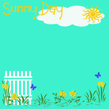 Sunny day poster Royalty Free Stock Photos