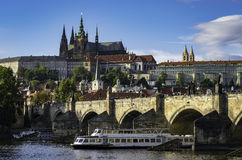 Sunny day in Prague Royalty Free Stock Photos