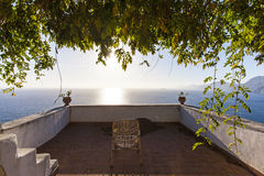 A sunny day from Praiano, from costiera amalfitana Royalty Free Stock Image