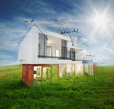 Sunny day project home Royalty Free Stock Photo