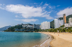 The sunny day at Repulse Bay, the famous public beach in Hong Kong Stock Image