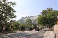 Sunny day Repulse Bay - Hong Kong. Quiet road nearby Repulse Bay on Sunday royalty free stock image