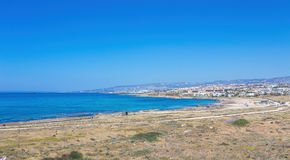 Sunny day in the resort of Paphos, Cyprus Royalty Free Stock Images