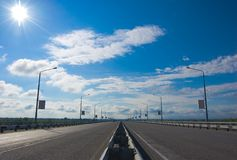 Sunny day road Stock Photography