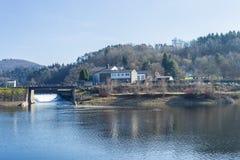 A sunny day on Rur lake Stock Photos