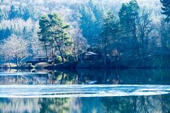 A sunny day on Rur lake Stock Images