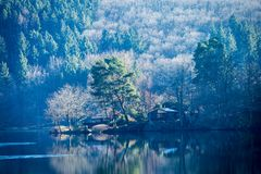A sunny day on Rur lake Stock Photography