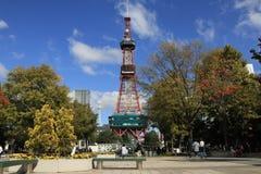 Sunny day at Sapporo TV Tower, Hokkaido, Japan royalty free stock image