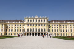 Sunny day in Schonbrunn Palace Royalty Free Stock Photos