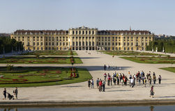 Sunny day in Schonbrunn Palace Royalty Free Stock Image
